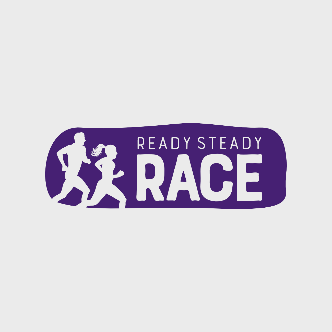 Ready Steady Race logo for running events