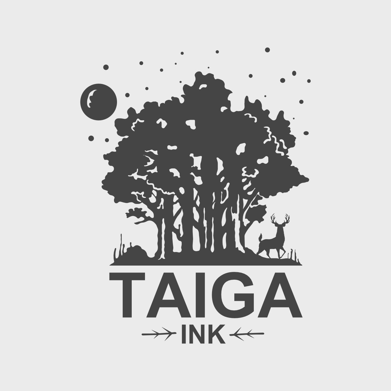 Taiga Ink logo in collaboration with Taiga Ink