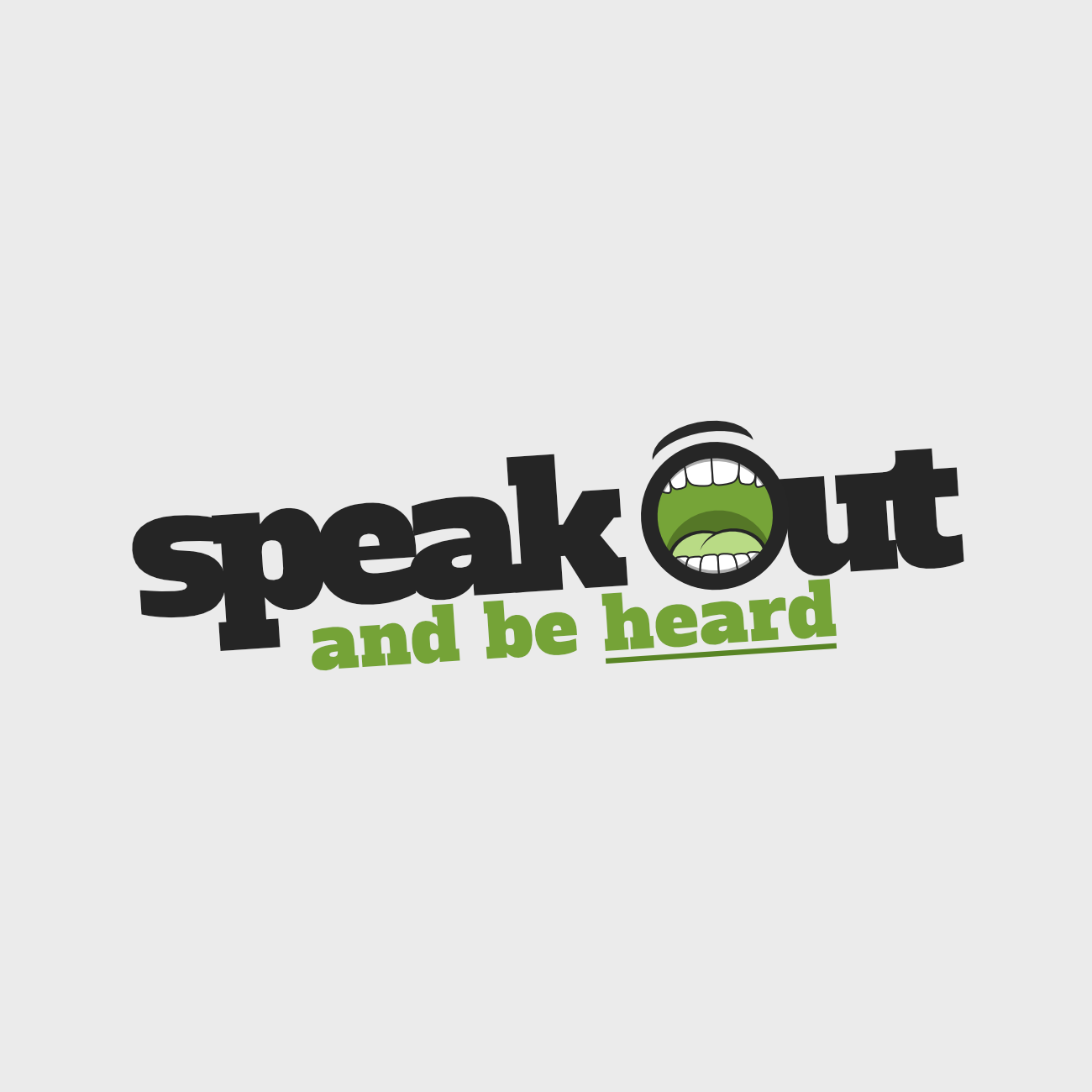 Speak Out and be Heard logo for UK charity